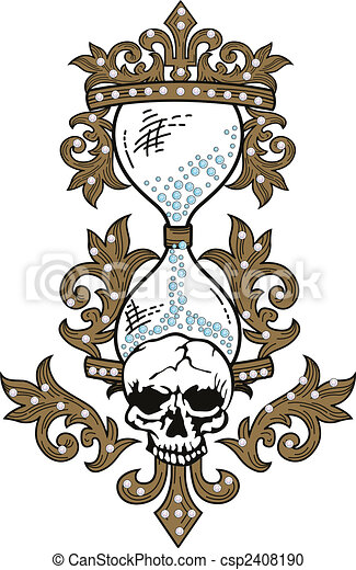 Skull rock grunge texture - csp2408190