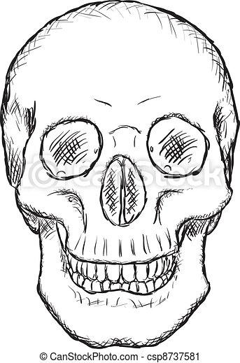 Skull - rough vector drawing - csp8737581
