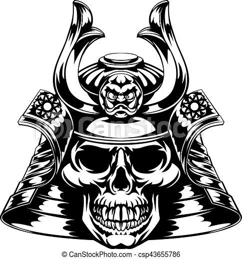 Skull Samurai A Skeletal Skull Face Samurai With Mask And Helmet