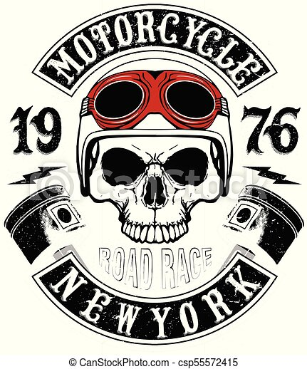 Skull T Shirt Motorcycle Logo Graphic Design