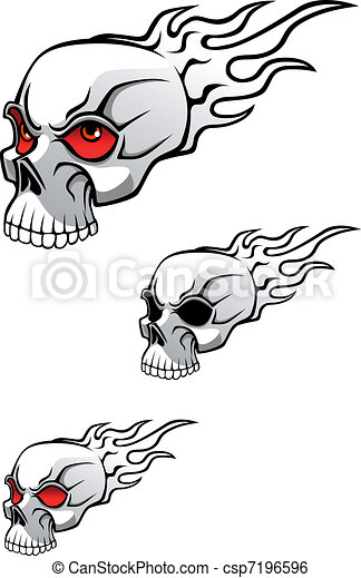 Skull tattoo - csp7196596