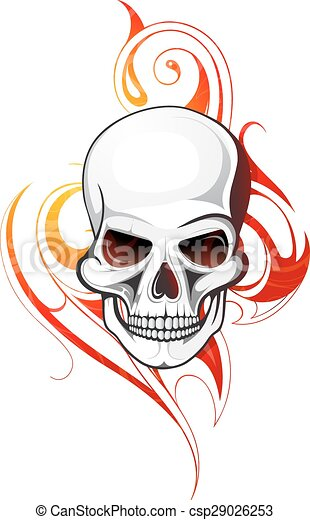 Skull tattoo - csp29026253