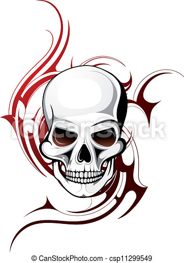 Skull tattoo - csp11299549