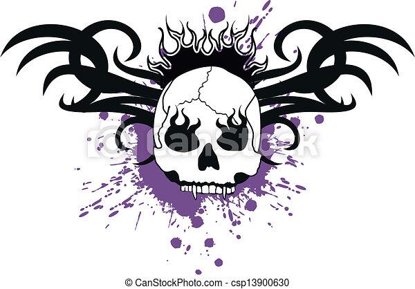 skull tribal tattoo9 - csp13900630
