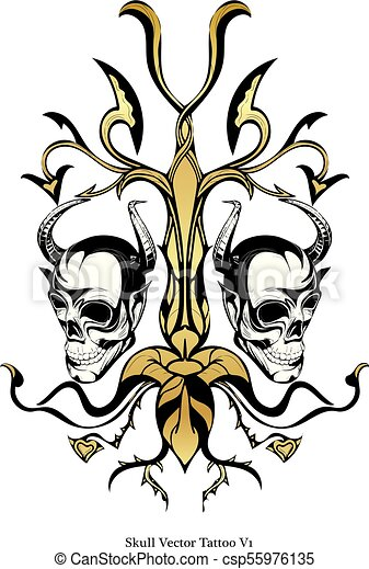 skull vector tattoo skull vector art tattoo vectors search clip rh canstockphoto com skull vector images free skull vector art