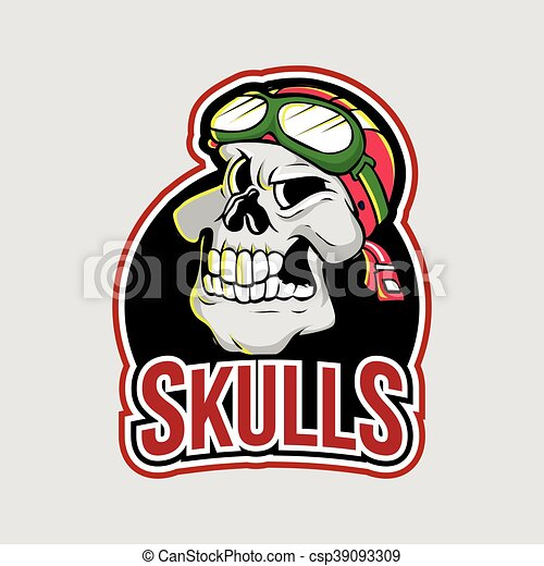 skulls illustration design - csp39093309