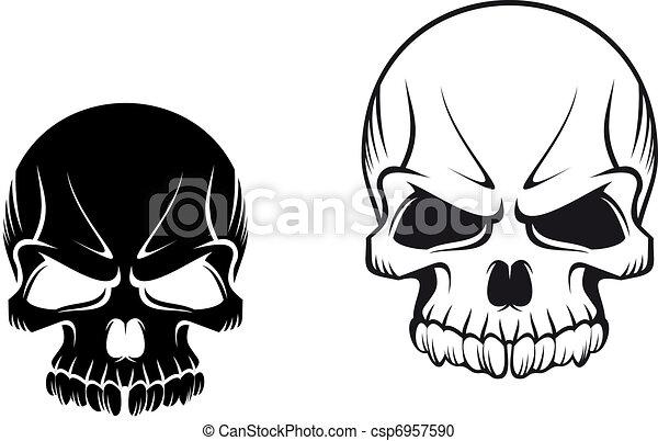 skulls tattoos danger evil skulls for tattoo or mascot design rh canstockphoto com clip art skull and crossbones clip art skull and crossbones