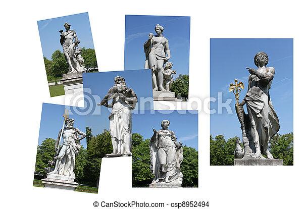 skulptur, statyer - csp8952494
