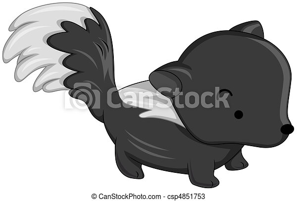 Illustration Of A Cute Skunk On All Fours