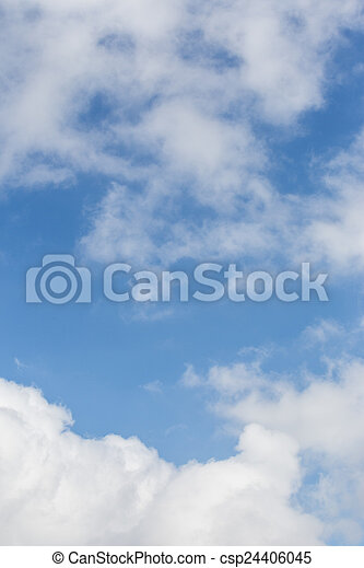 Sky and clouds. - csp24406045