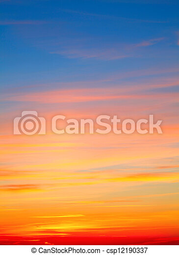 Sky Background - csp12190337