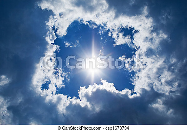 sky background. sun and clouds background - csp1673734