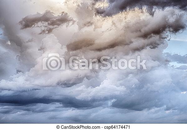 Sky clouds art sunrise background - csp64174471
