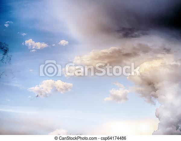 Sky clouds art sunrise background - csp64174486
