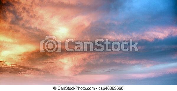 Sky clouds art sunrise background - csp48363668