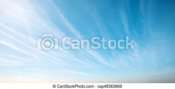 Sky clouds art sunrise background - csp48363669