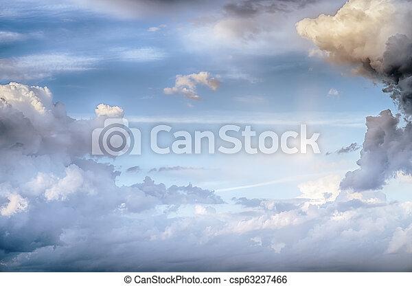 Sky clouds art sunrise background - csp63237466
