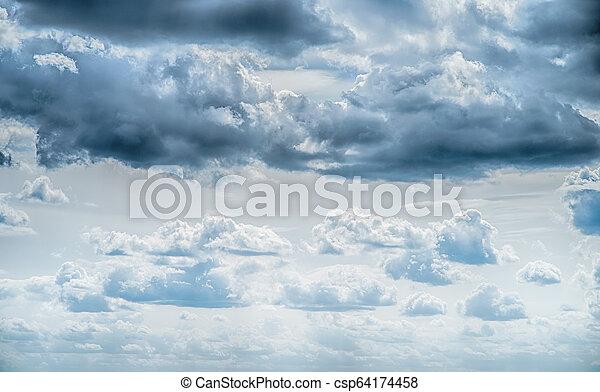 Sky clouds art sunrise background - csp64174458