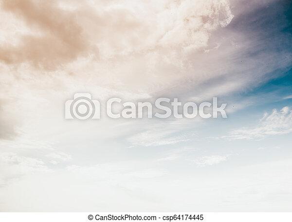 Sky clouds art sunrise background - csp64174445