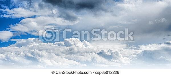 Sky clouds art sunrise background - csp65012226