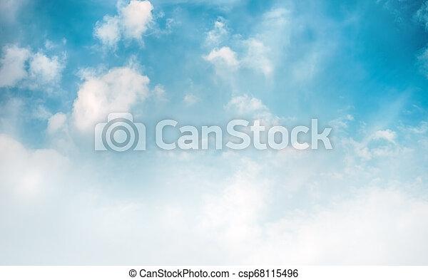 Sky clouds art sunrise background - csp68115496