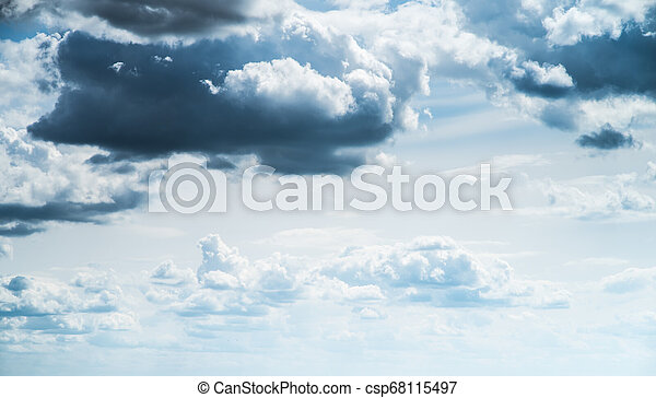 Sky clouds art sunrise background - csp68115497