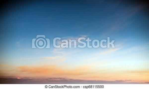 Sky clouds art sunrise background - csp68115500