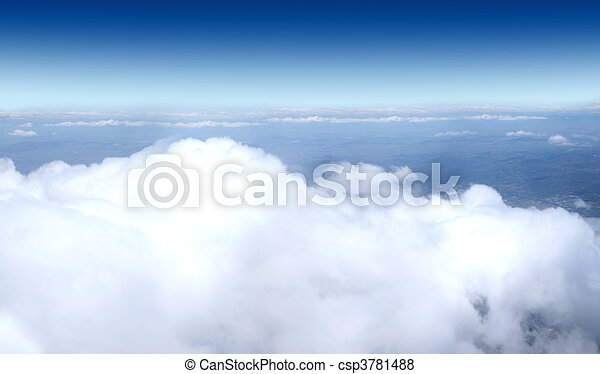 Sky collection - Shot from airplane - csp3781488