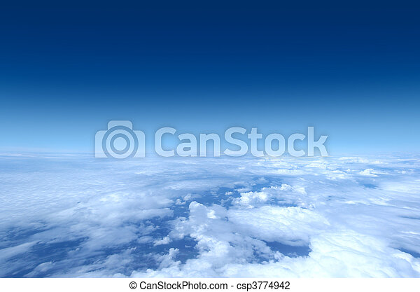 Sky collection - Shot from airplane - csp3774942