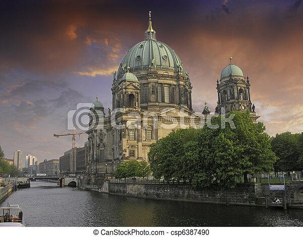 Sky Colors over Berliner Dom - csp6387490