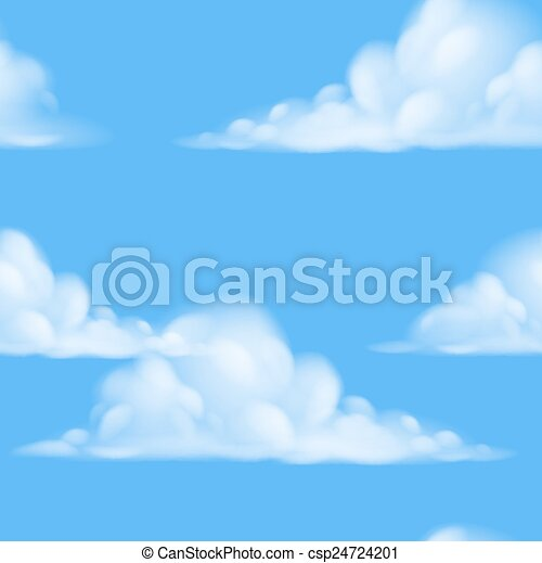 sky, seamless, bakgrund - csp24724201