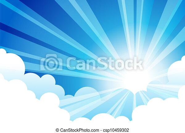 Sky Sun Cloud - csp10459302