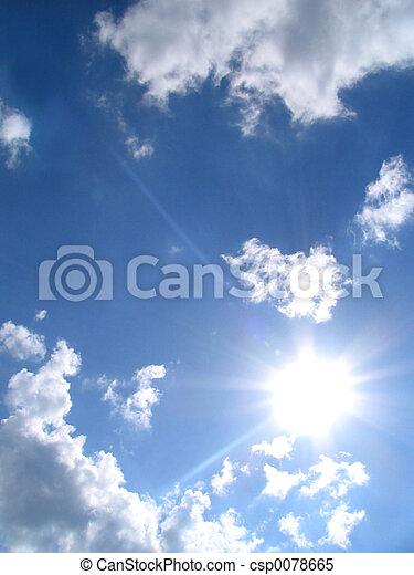 sky-sun-clouds - csp0078665