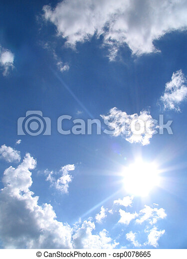 sky-sun-clouds - csp0078665