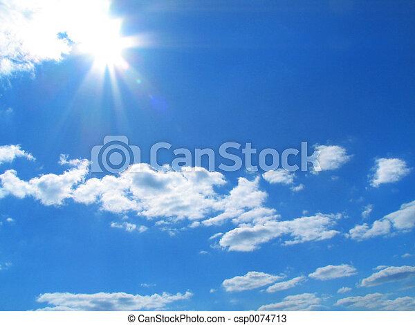 Sky-sun-clouds - csp0074713