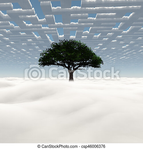Sky tree - csp46006376