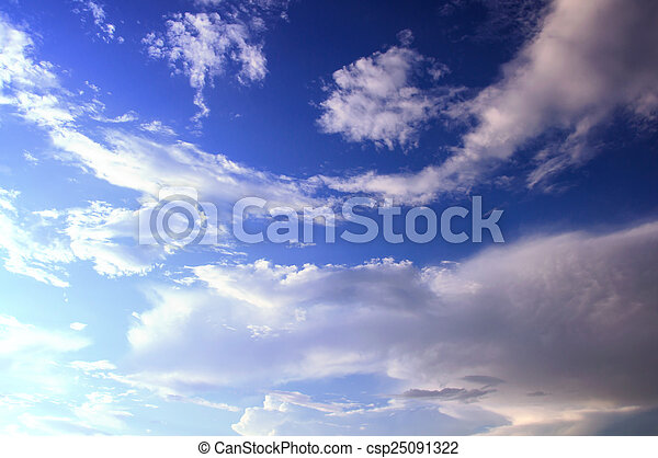 sky with clouds background - csp25091322