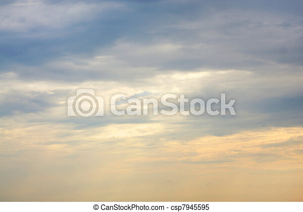 Sky with clouds, for backgrounds or textures - csp7945595
