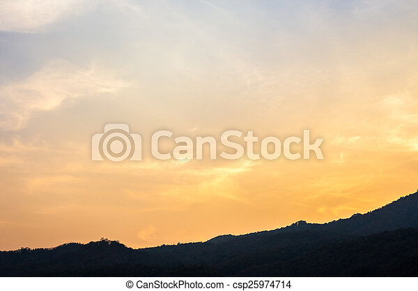 sky with clouds in the evening - csp25974714