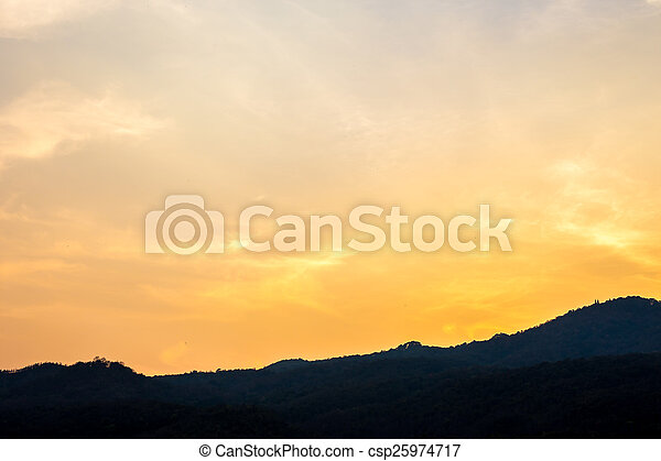 sky with clouds in the evening - csp25974717