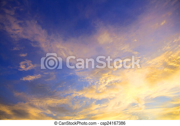 sky with clouds in the evening - csp24167386