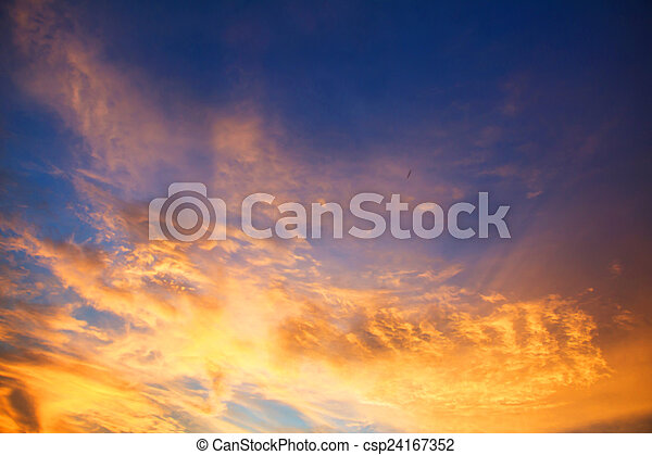 sky with clouds in the evening - csp24167352