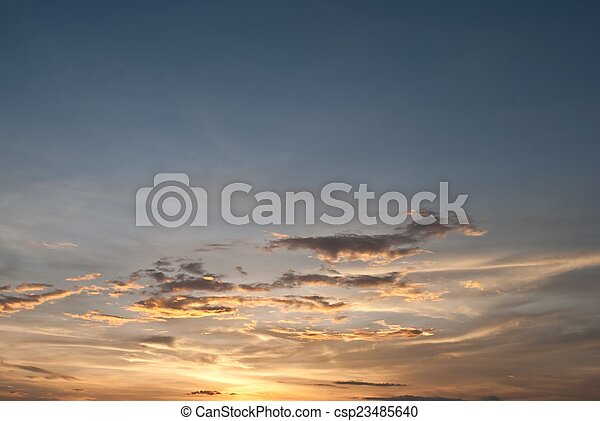 sky with clouds in the evening - csp23485640