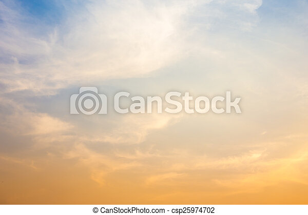 sky with clouds in the evening - csp25974702