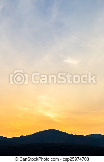 sky with clouds in the evening - csp25974703