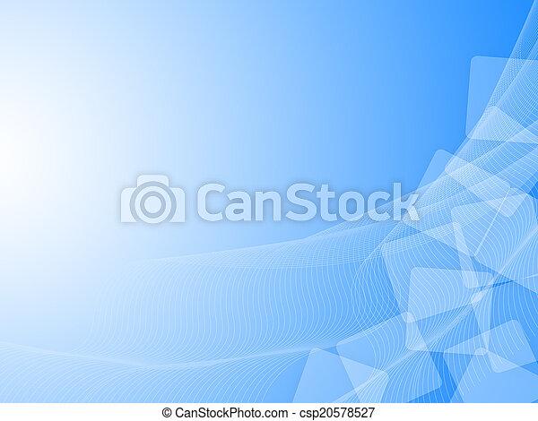 skyblue wavy background - csp20578527