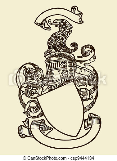 skydda, heraldik - csp9444134