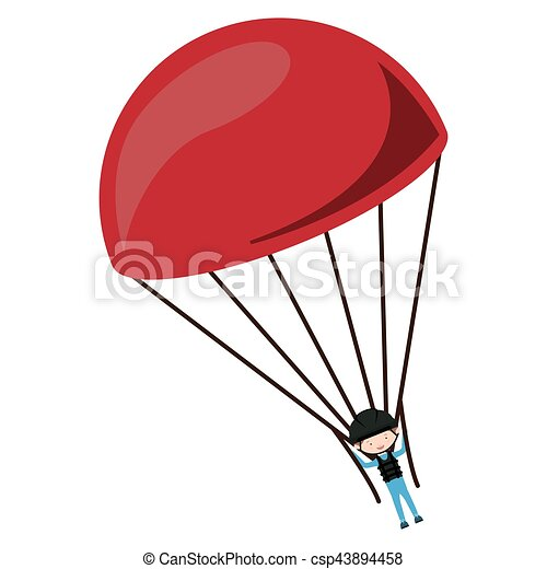 Skydiving extreme sport - csp43894458