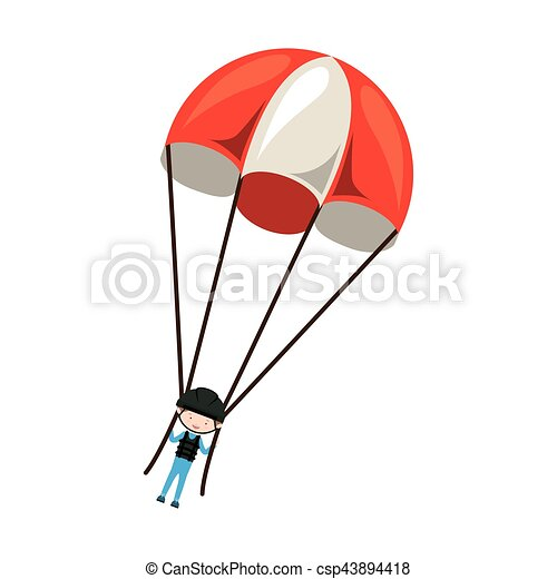 Skydiving extreme sport - csp43894418