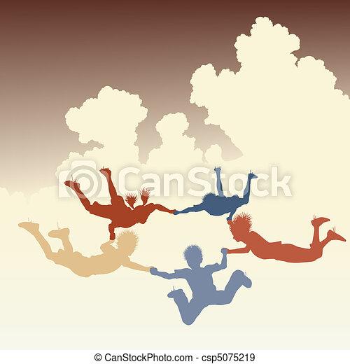 Skydiving friends - csp5075219